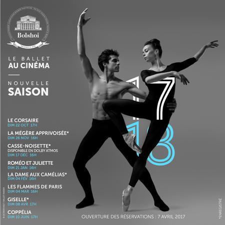 NOUVELLE SAISON BALLET DU BOLSHOÏ DE MOSCOU 2017/2018